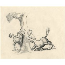"""Centaur"" and ""Centaurette"" concept drawing from the ""Pastoral Symphony"" segment of Fantasia."