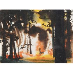 Tyrus Wong concept painting for Bambi.
