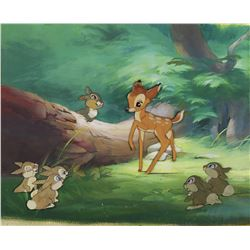 """Bambi"", ""Thumper"" and ""Rabbits"" production cels on a production background from Bambi."