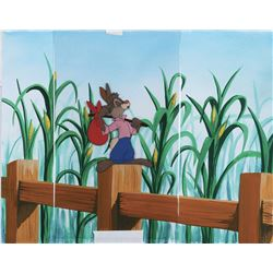 """Br'er Rabbit"" production cel on a custom prepared background from Song of the South."