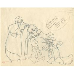 """Br'er Bear"", ""Br'er Fox"" and ""Tar Baby"" production drawing from Song of the South."