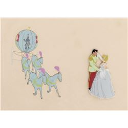 """Cinderella"", ""Prince Charming"" and the ""Pumpkin Coach"" production cels from Cinderella."