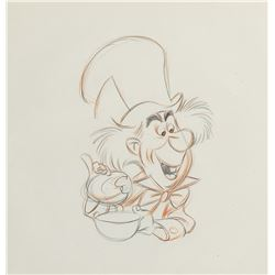 """Mad Hatter"" production drawing from Alice in Wonderland."