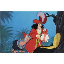 """Captain Hook"" and ""Mr. Smee"" production cels on a production background from Peter Pan."