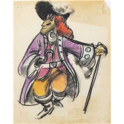 """Captain Hook"" concept drawing for Peter Pan."