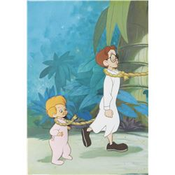"""John"" and ""Michael"" production cels on a production background from Peter Pan."