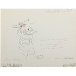 """Mr. Smee"" production drawing from Peter Pan."