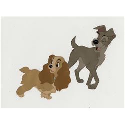 """Lady"" and ""Tramp"" production cels from Lady and the Tramp."