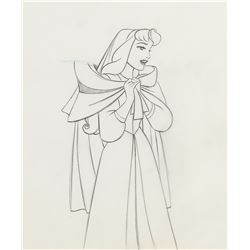 "(2) matching production drawings featuring ""Briar Rose"" and the ""Mock Prince"" from Sleeping Beauty."