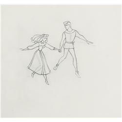 """Briar Rose"" and ""Prince Philip"" production drawing from Sleeping Beauty."