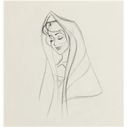 """Briar Rose"" production drawing from Sleeping Beauty."