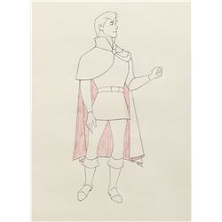"""Prince Philip"" production drawing from Sleeping Beauty."