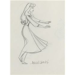 """Briar Rose"" and the ""Mock Prince"" production drawing from Sleeping Beauty."