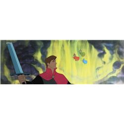 """Prince Philip"" and ""The Three Fairies"" production cels from Sleeping Beauty."
