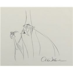 """Merlin"" production drawing from The Sword in the Stone."