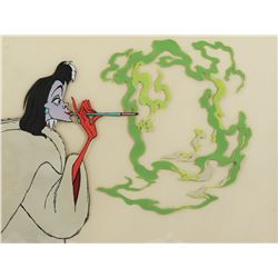 """Cruella DeVil"" production cel with smoke effects from 101 Dalmatians."