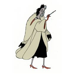"""Cruella DeVil"" production cel from 101 Dalmatians."