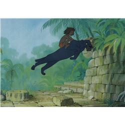 """Mowgli"" and ""Bagheera"" production cel from The Jungle Book."