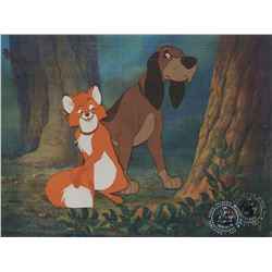 """Tod"" and ""Copper"" production cels from The Fox and the Hound."