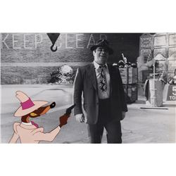 """""""Weasels"""" (2) production cels on matching photographic backgrounds from Who Framed Roger Rabbit."""