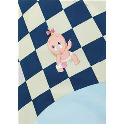 """""""Baby Herman"""" production cel on matching painted production cel background - Who Framed Roger Rabbit"""