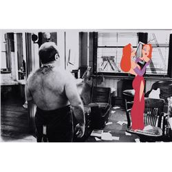 """""""Jessica Rabbit""""production cel on a matching photographic background from Who Framed Roger Rabbit."""