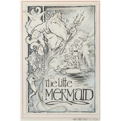 The Little Mermaid concept art for the movie poster.