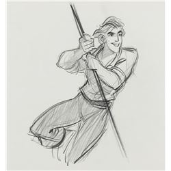 """""""Prince Eric"""" production drawing from The Little Mermaid."""