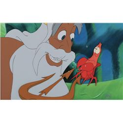 """King Triton"""" and """"Sebastian"""" production cels from The Little Mermaid."""