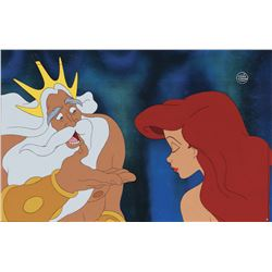 """""""Ariel"""" and """"King Triton"""" production cels from The Little Mermaid."""