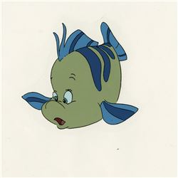 """The Little Mermaid (4) model cels featuring """"Prince Eric"""", """"Flounder"""", """"Sebastian"""" and """"Scuttle""""."""