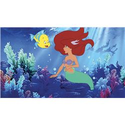 """""""Ariel"""" and """"Flounder"""" production cels with bubble effects cel from The Little Mermaid."""