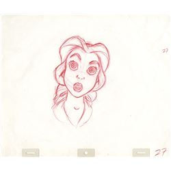 """Beauty and the Beast (1) """"Belle"""" and (3) """"Beast"""" production drawings."""