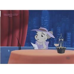 """""""Bianca"""" studio prepared cel on a matching production background from The Rescuers Down Under."""