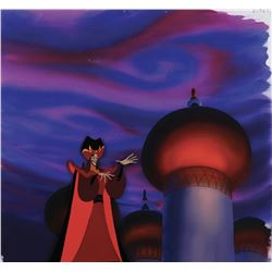 """""""Jafar"""" production cel on a production background from Aladdin TV Series."""