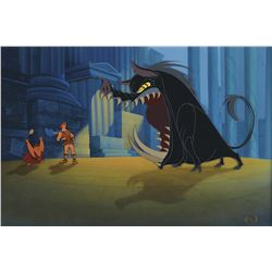 """""""Hercules"""", """"Pig"""" & """"Giant Boar"""" studio prepared cel on matching production background from Hercules"""