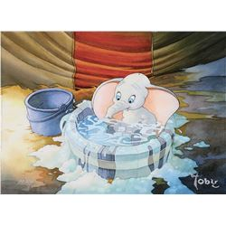 "Toby Bluth (2) signed limited edition giclee featuring ""Dumbo"" and his Mother from Dumbo."