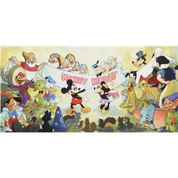 Toby Bluth (3) signed limited edition giclees - Mickey's Birthday Party, Fantasia & The Band Concert