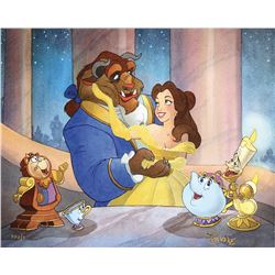 Toby Bluth (3) signed limited edition giclees featuring scenes from Bambi and Beauty and the Beast.