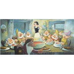 Toby Bluth (3) signed limited edition giclees featuring scenes from Snow White and the Seven Dwarfs.