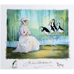 "Toby Bluth signed limited edition giclees featuring ""Mary Poppins"" and the ""Penguins""."