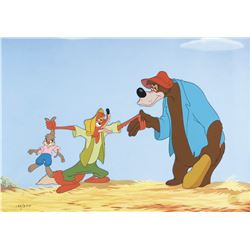 "Song of the South limited edition cel featuring ""Br'er Rabbit"", ""Br'er Fox"" and ""Br'er Bear""."