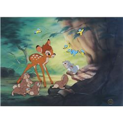 "Bambi limited edition cel featuring ""Bambi"" and ""Thumper""."