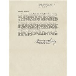 Charles Schulz collection of (4) signed personal letters.