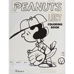 Charles Schulz cover art and original colored mock up for Peanuts Coloring Book.