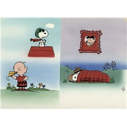 """Peanuts"" illustration art for Snoopy's Book of Colors by Charles Schulz featuring ""Snoopy""."