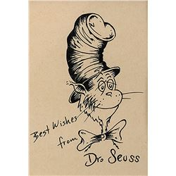 "Dr. Seuss ""Cat in the Hat"" drawing."