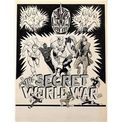 Don Rico signed original poster art for The Secret World War.