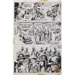 Doug Wildey original signed comic book page for Army at War.