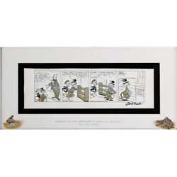 """""""Scrooge McDuck"""" and """"Donald Duck"""" comic strip art signed by Carl Barks."""